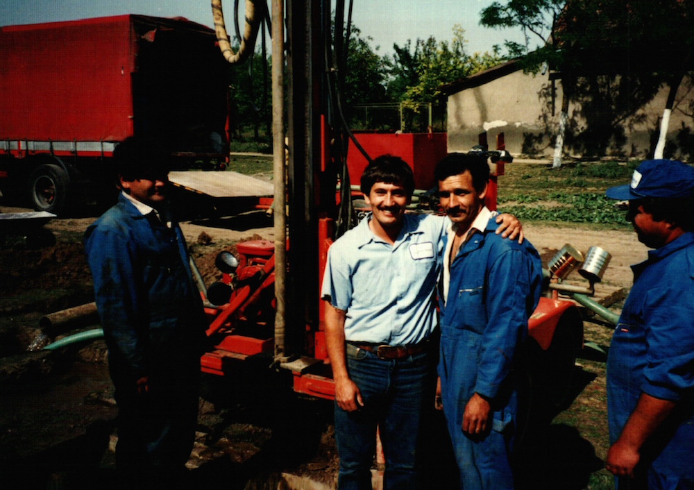 American drillers taught Romanians how to drill for wells in villages.