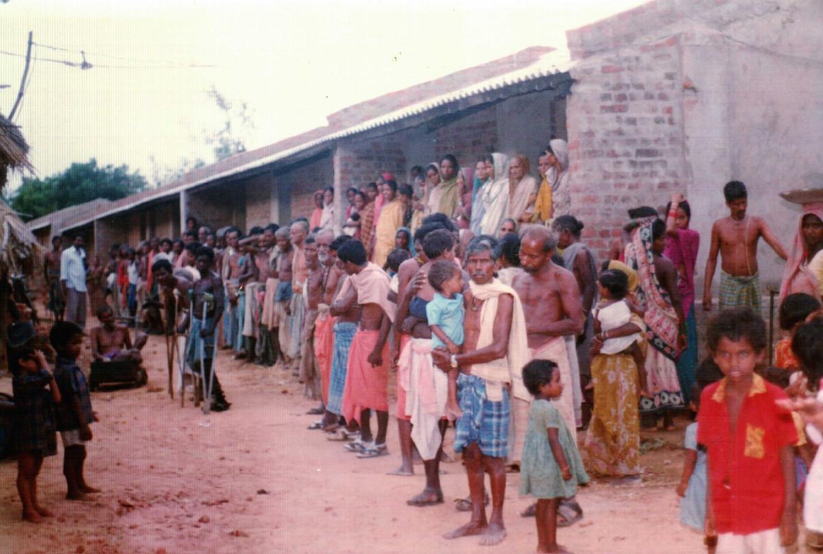 Leper colony in Bhubaneswar, Orissa State, India