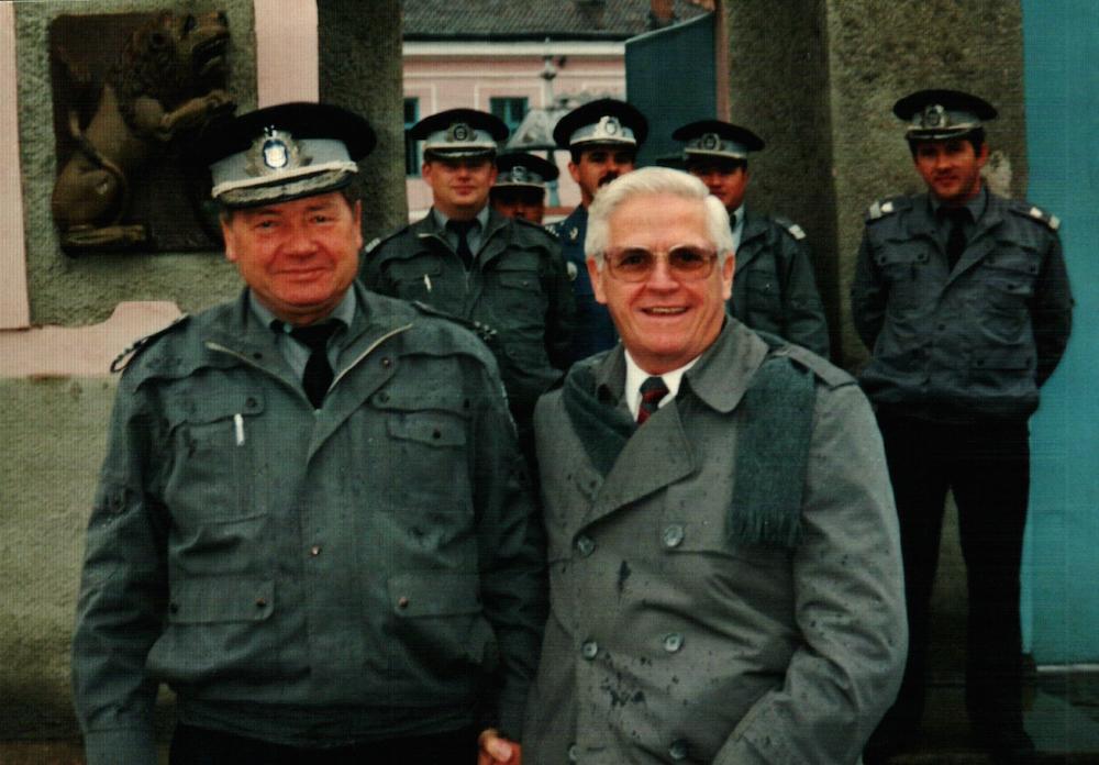 Gene Huff visiting maximum security prison.