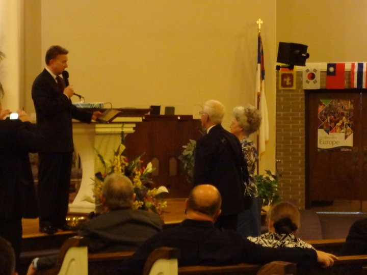 honoring the Huffs at Missions Conference 2011